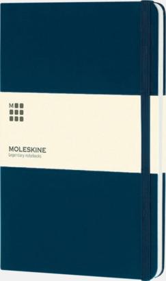 Prussian Blue (large) Moleskine-böcker med blanka sidor och hårt omslag - med reklamtryck