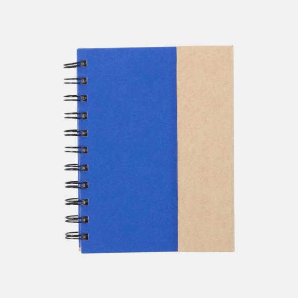 Blå Anteckningsblock och notisblock med markeringslappar