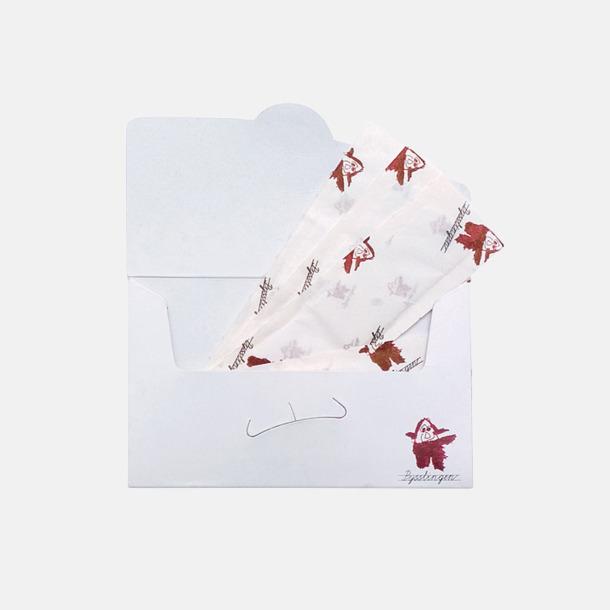 Vit Pappersask med plåster - med reklamtryck