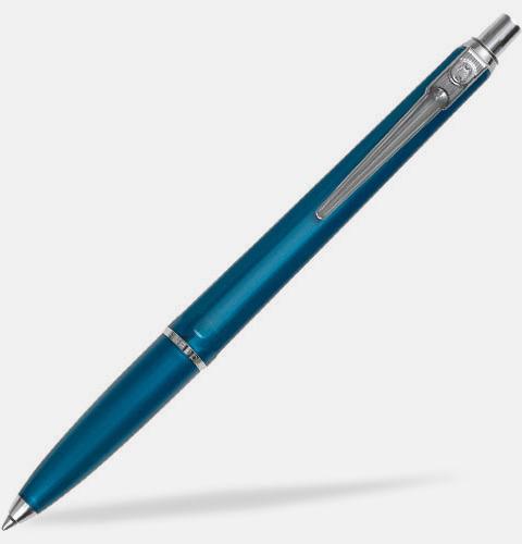 Blå (bläck) Ballografpennor med eget tryck