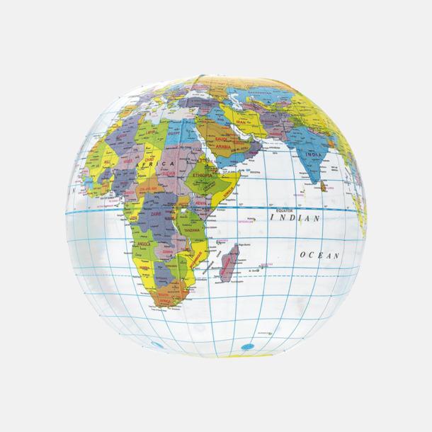 Transparent Badbollar med världskarta - med reklamtryck