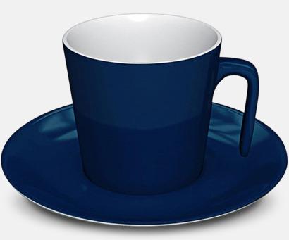Marinblå Porslinskoppar med eget tryck