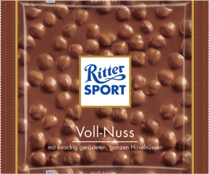 Hela hasselnötter 100 gram-Ritter Sport choklad med reklamtryck