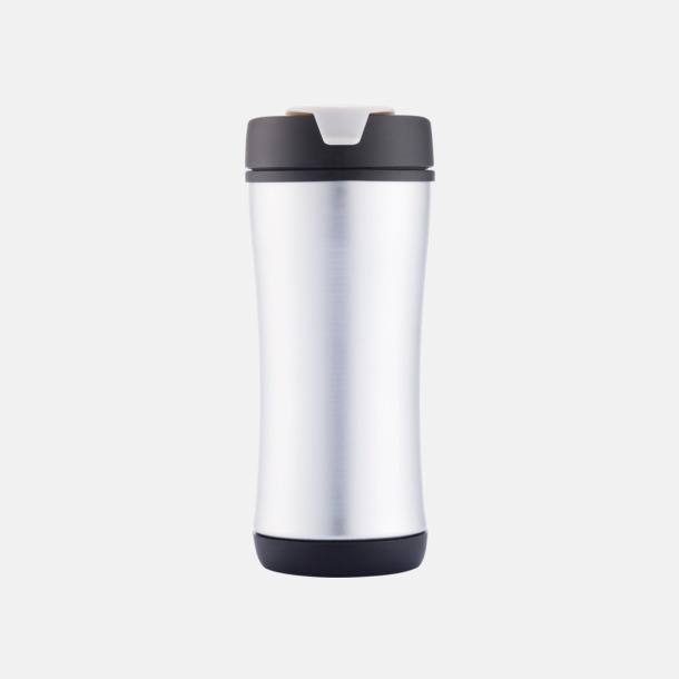Svart Lättåteranvändbara vattenflaskor med tryck
