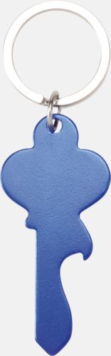 Blå (nyckel) Figurformade öppnare och nyckelringar med lasergravyr