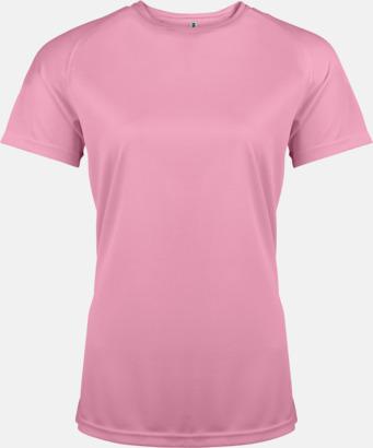 Mörkrosa Sport t-shirts i många färger för damer - med reklamtryck