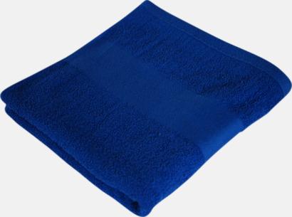Royal Blue Prisvärda handdukar i flera storlekar med brodyr