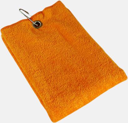 Sunny Orange Golfhanddukar med egen brodyr