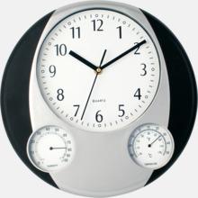 Väggklocka och termometer med reklamtryck