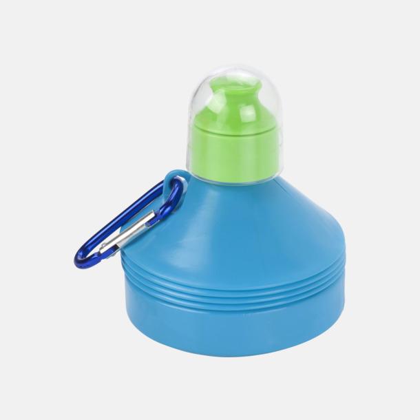 Ljusblå Hopfällbara 60 cl vattenflaskor med reklamtryck
