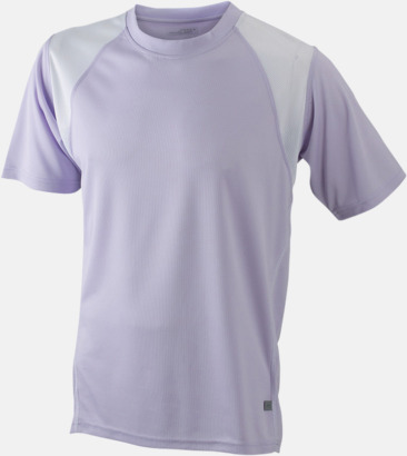 Lilac/Vit Flerfärgade tränings t-shirts i herrmodell med reklamtryck