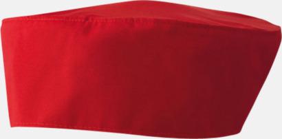 Röd Kockmössor i många färger med reklamtryck