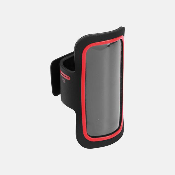 Svart/Röd Armband som passar iPhones och Galaxy smartphones med reklamtryck