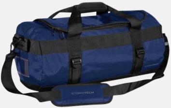 Ocean Blue/Svart 35 liters-väskor med reklamtryck