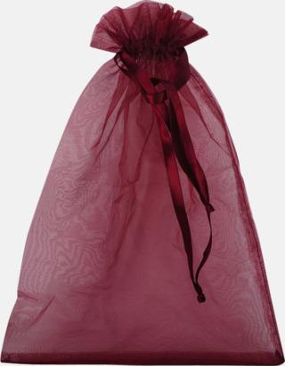 Röd (XL) Färgglada presentpåsar i 4 storlekar med reklamtryck