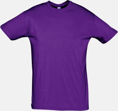 Dark Purple Billiga herr t-shirts i rmånga färger med reklamtryck