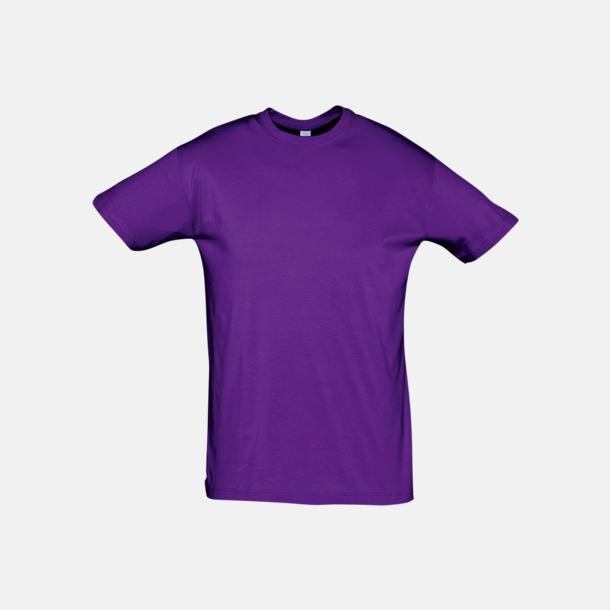 Mörklila Billiga unisex t-shirts i många färger med reklamtryck