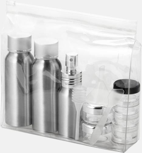 Reseflask set i aluminium med reklamtryck