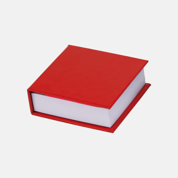 Röd Miniblock med märklappar - med reklamtryck