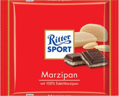 Marsipan 100 gram-Ritter Sport choklad med reklamtryck