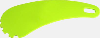 Limegrön Grillskrapor i plast med reklamtryck