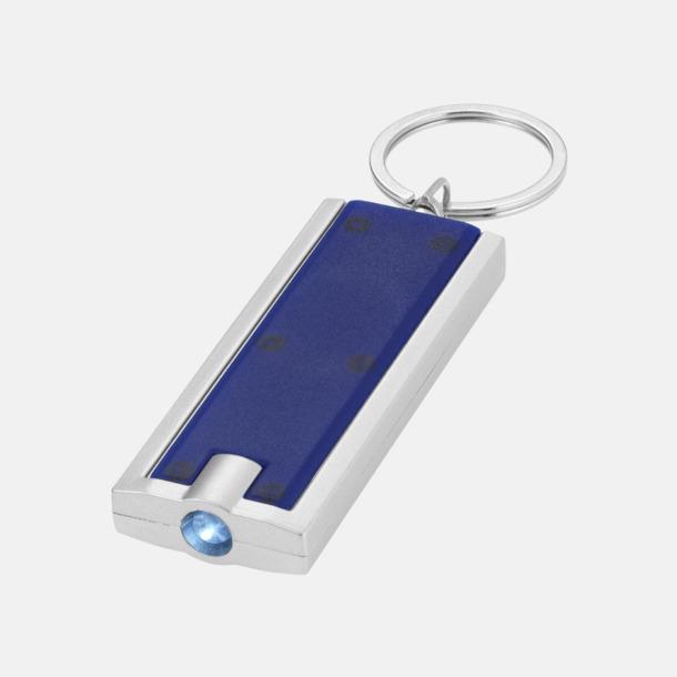 Blå Ficklampa till nyckelringen med reklamtryck