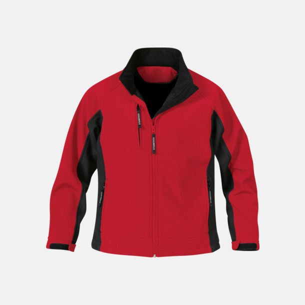 Röd/Svart (dam) Kvalitetsjackor i herr- & dammodell med reklamtryck