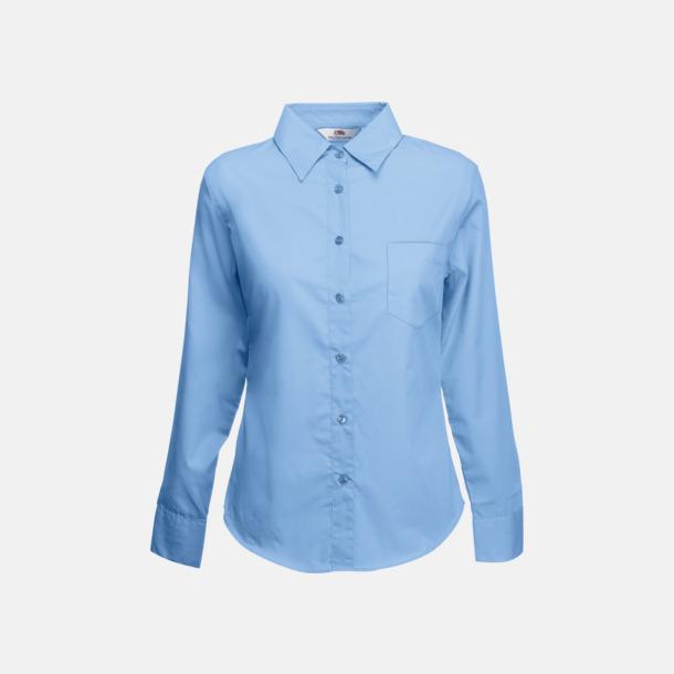 Mid Blue Långärmade blusar med egen reklambrodyr