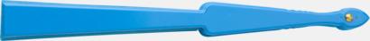 Ljusblå Klassiska solfjädrar med reklamtryck