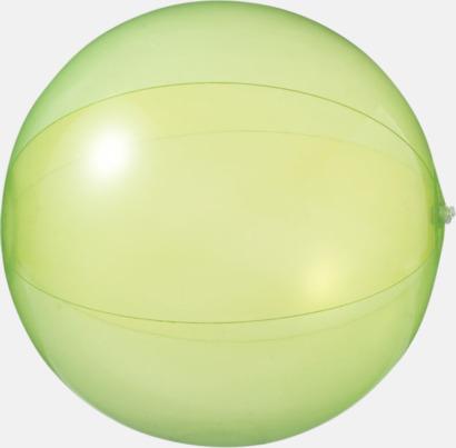 Badbollar i solida och transparenta färger med reklamtryck