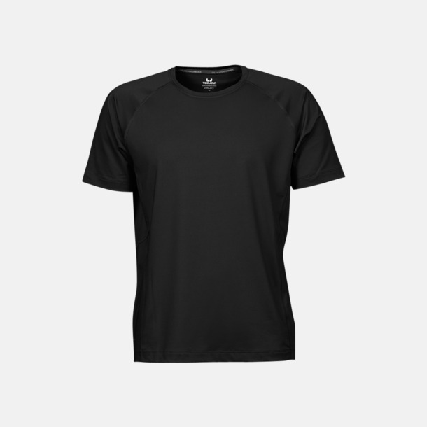 Svart (herr) Funktions t-shirts i herr- & dammodell med reklamtryck