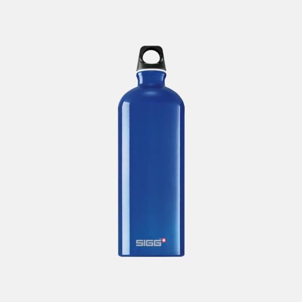 Mörkblå Transparent (1,0 liter) Äkta SIGG-flaskor med eget tryck