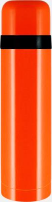 Orange Fickståltermos med reklamtryck