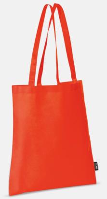 Röd (långa handtag) Billiga kassar med korta eller långa handtag - med reklamtryck