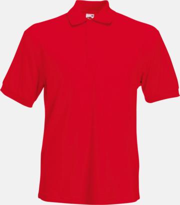 Röd Pikétröjor med tryck eller brodyr