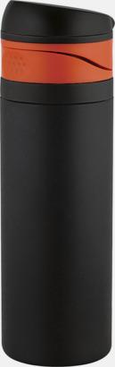 Mattsvart/Orange 0,4 liters ståltermosmugg med reklamtryck