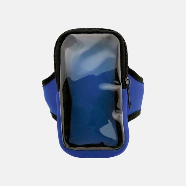 Blå Joggingarmband av softshell för mobiltelefonen med reklamtryck