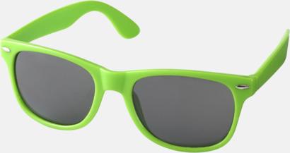 Limegrön (PMS 368C) Trendiga solglasögon med tryck