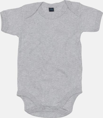 Heather Grey Melange Profilkläder för de allra minsta med tryck