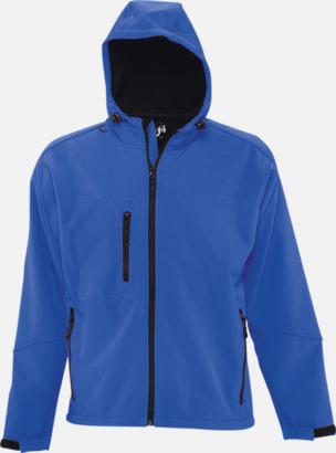 Royal Blue (herr) Softshell jackor i herr-, dam- & barnmodell med reklamtryck