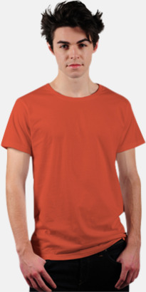 Flame Coral Eko t-shirts i Fairtrade-bomull med reklamtryck