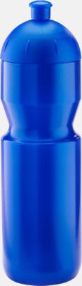 Metallic blå (750 ml) Bulb-vattenflaskor i 4 storlekar med digitaltryck