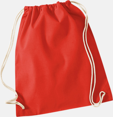 Bright Red Gympapåsar i bomull med reklamtryck