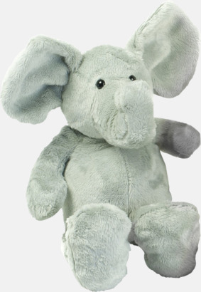 Elefant 340 mm höga gosedjur med reklamtryck