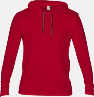 Röd (herr) Billiga herr- och damtröjor med reklamtryck