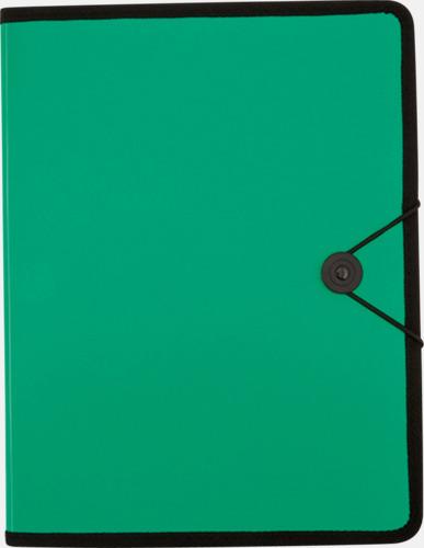 Grön Konferensmappar i färgad plast - med reklamtryck