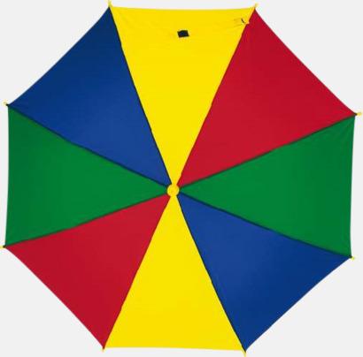 Blå/Röd/Gul/Grön Mindre paraplyer för barn - med tryck