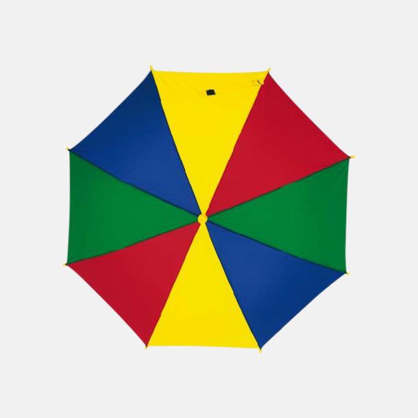 Blå/Röd/Gul/Grön Mindre paraplyer för barn - med reklamtryck