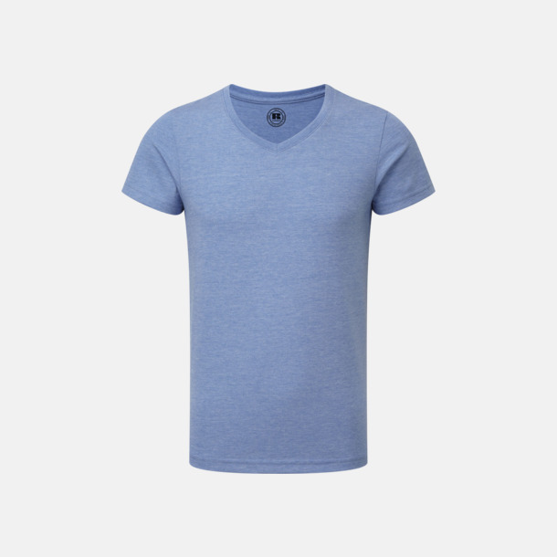 Blue Marl (v-neck pojke) Barn t-shirts i u- och v-hals med reklamtryck