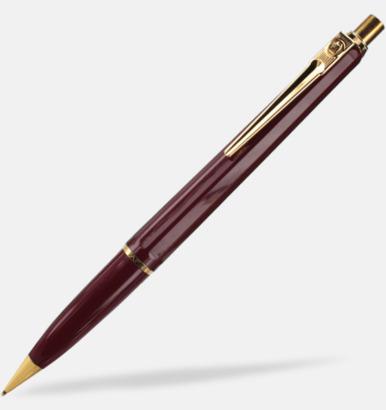 Vinröd stiftpenna Ballografpennor med eget tryck